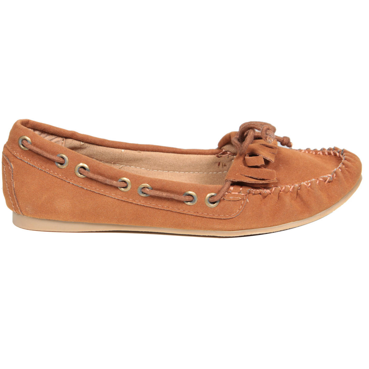 Tan Suedette Loafer Shoe Preview
